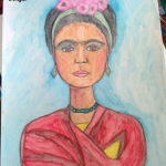 Frida sketch watercolor