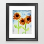 watercolor-3-sunflowers-framed-prints