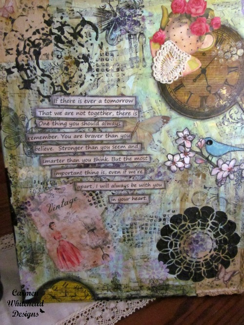 Special mixed media canvas for my kids. Braver, Stronger, Smarter