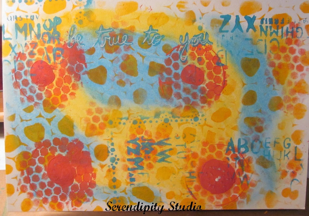 soc, summer of color, art journal page