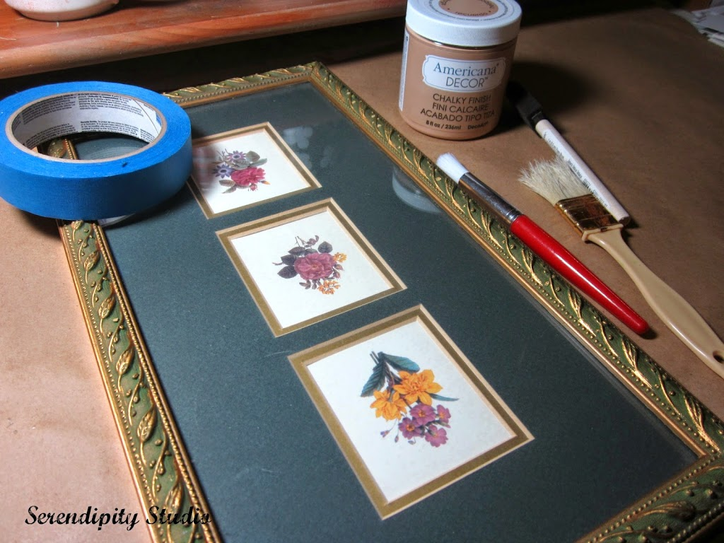Decoart chalky finish paint, thrift store frame