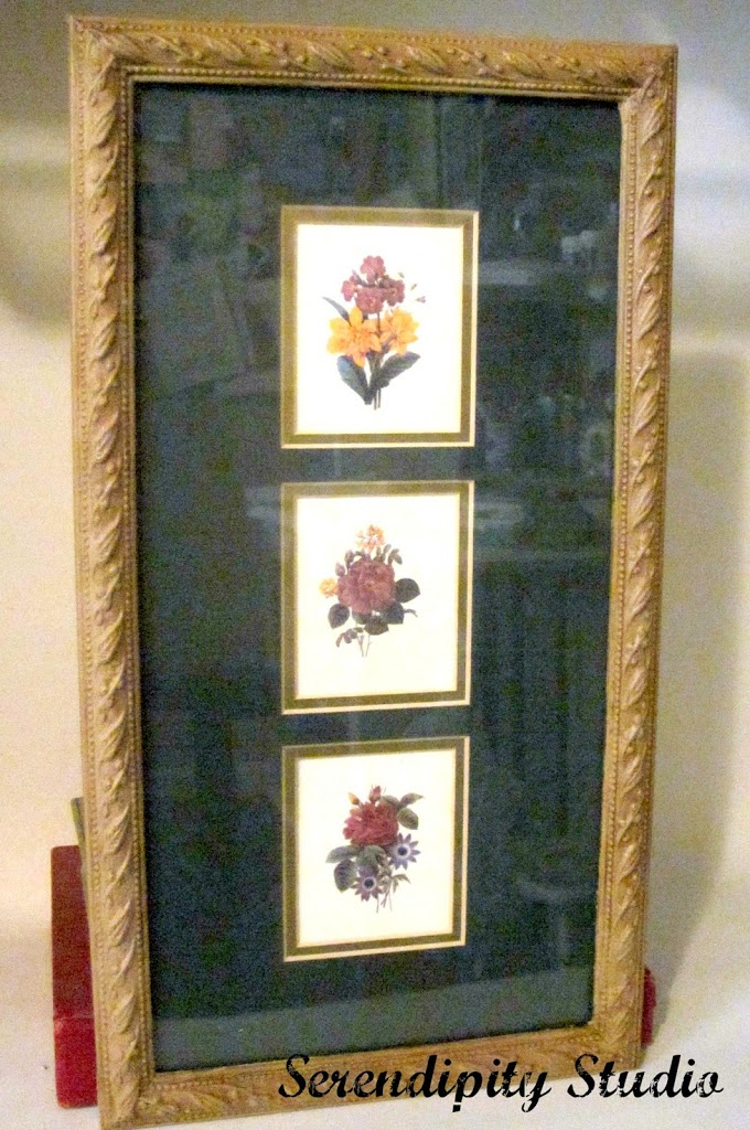 americana decor chalky finish paint, thrift store frame
