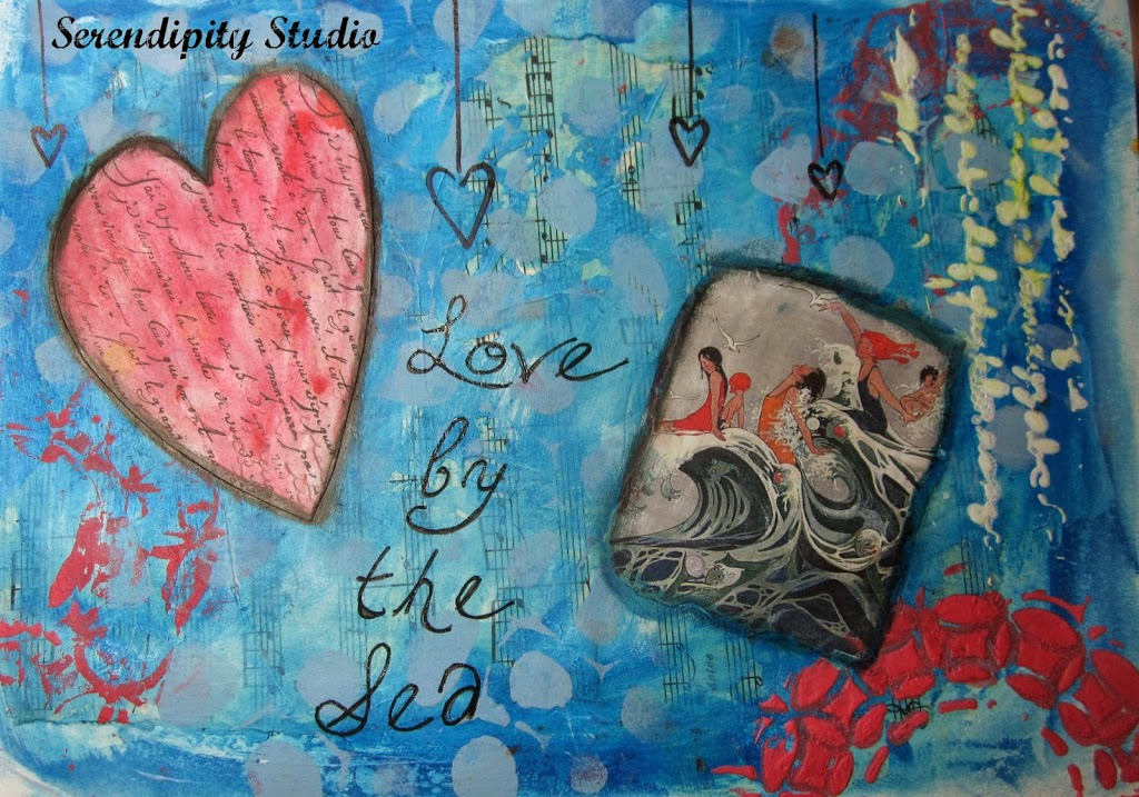summer of color, week 5, love by the sea, faber castell gel sticks
