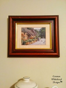 Vintage English Frame Makeover with Americana Chalky Finish by Carmen Whitehead Designs