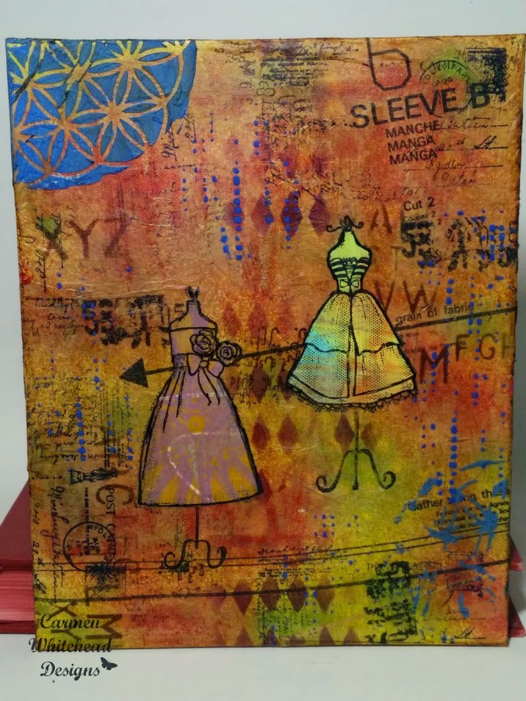 Vintage Dress Forms canvas created by Carmen Whitehead Designs