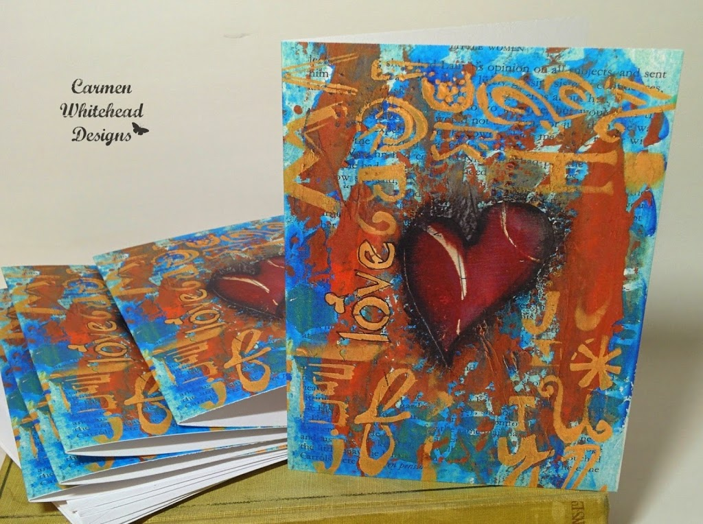 Wholesale note card packs available from www.carmenwhitehead.com