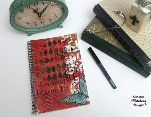 Let Your Dreams Fly journal - Carmen Whitehead Designs