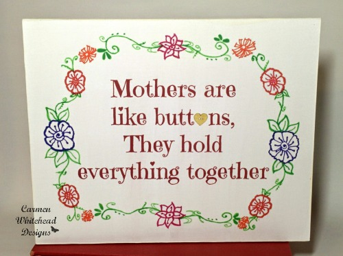 Mothers are buttons mdf