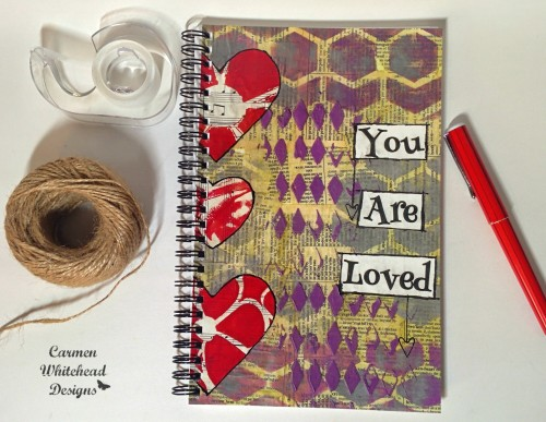 You are loved spiral bound journal www.carmenwhitehead.com