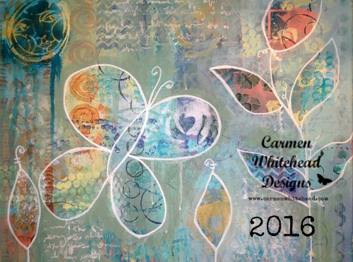 2016 calendars by Carmen Whitehead Designs