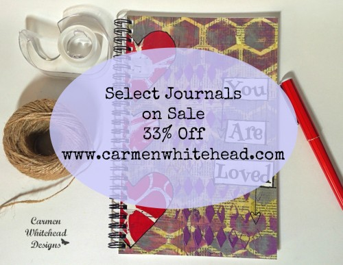 Select journals on sale at www.carmenwhitehead.com