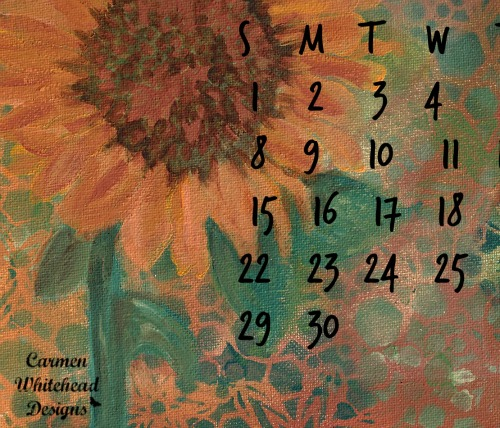 November 2015 downloadable desktop calendar available for www.carmenwhitehead.com subscribers.