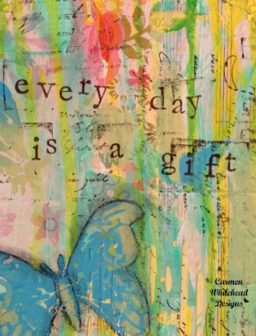 Every day is a gift original canvas by www.carmenwhitehead.com