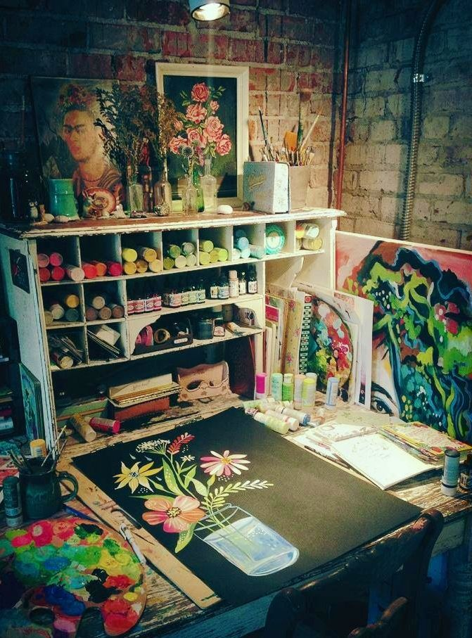 10 Inspirational Art Studios Carmen Whitehead Designs