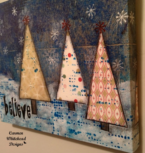 Believe canvas print - 2015 Holiday Gift Guide www.carmenwhitehead.com