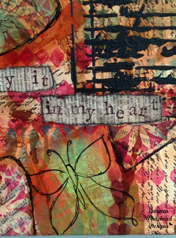 i carry your heart original mixed media canvas created by www.carmenwhithead.com