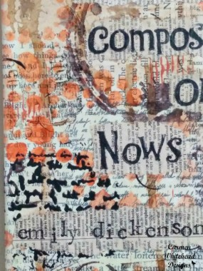 Forever is Composed of Nows - Emily Dickenson. original mixed media canvas