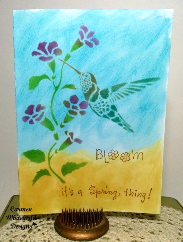 It's a Spring Thing card tutorial by www.carmenwhitehead.com for Bella Crafts Design Team