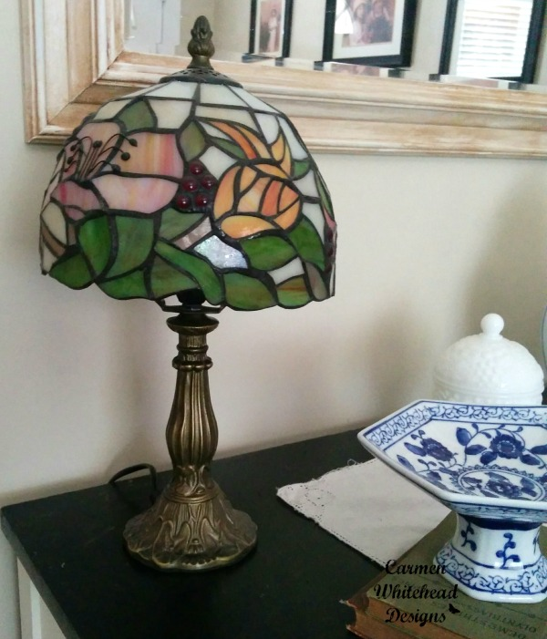 Flea market finds and a new Tiffany Style Lamp www.carmenwhitehead.com