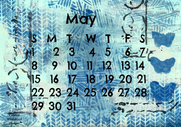 May Calendar Page by www.carmenwhitehead.com
