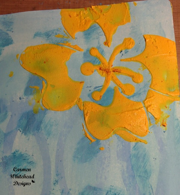 Tropical flower art journal pages created by www.carmenwhitehead.com for The Crafter's Workshop