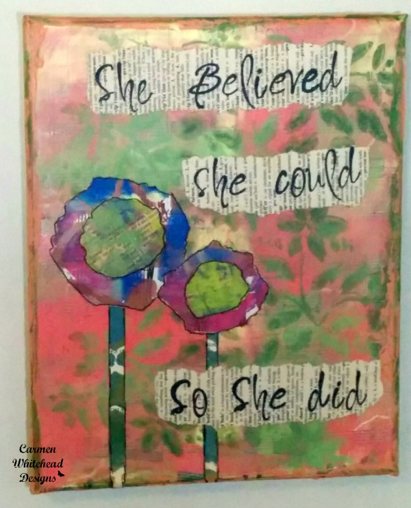 she believed she could custom canvas