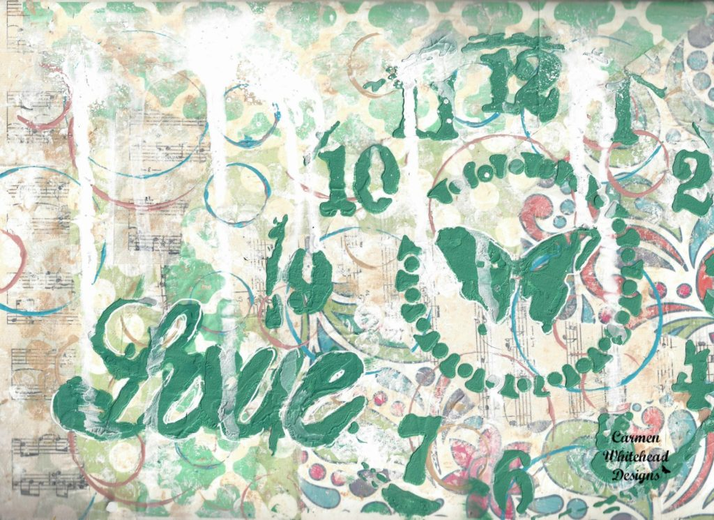 A Time for Love art journal page by www.carmenwhitehead.com