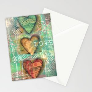 """3 pack of 5"""" x 7"""" stationary cards designed by Carmen Whitehead"""