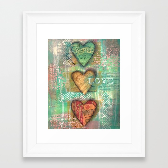 My Shabby Valentine Collection created by Carmen Whitehead - 3 Hearts Love
