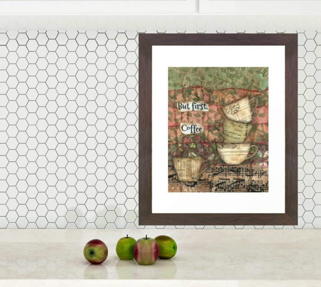 """But first Coffee available in 8"""" x 10"""" or 11"""" x 14"""" print by Carmen Whitehead Designs"""