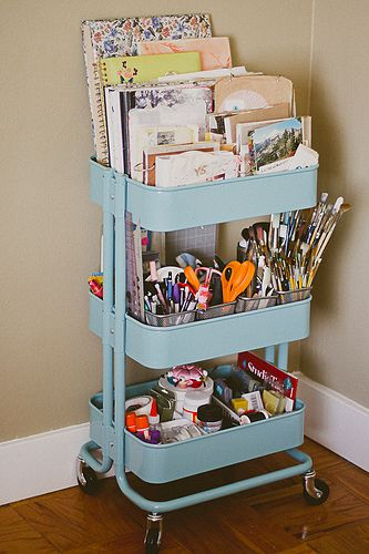 Art Studio Organization Ideas by Carmen Whitehead Desgins