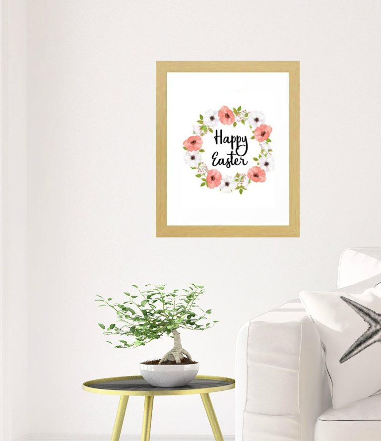 Free Happy Easter printable art from Carmen Whitehead Designs