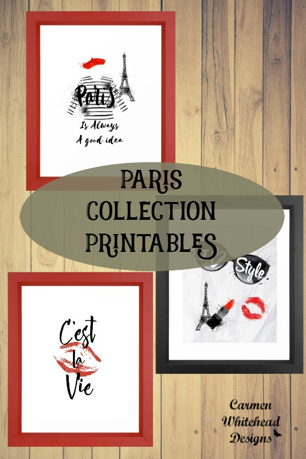 Paris Collection Printables by Carmen Whitehead Designs
