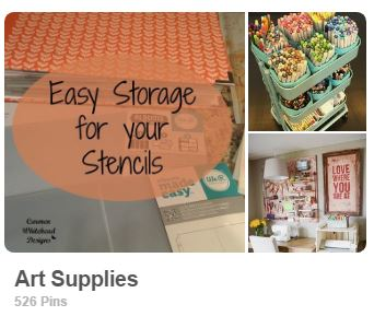 Art Supplies Pinterest board for Carmen Whitehead Designs @vintagecw