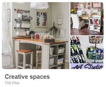 Creative Spaces Pinterest Board for Carmen Whitehead Designs @vintagecw