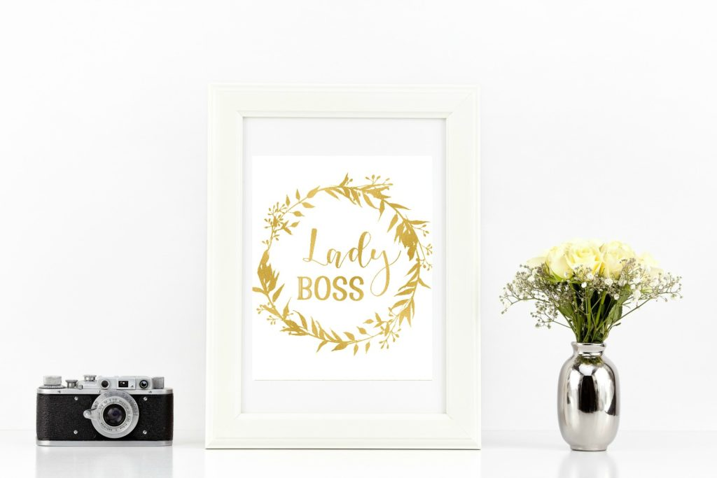 Lady Boss Faux Gold Foil printable