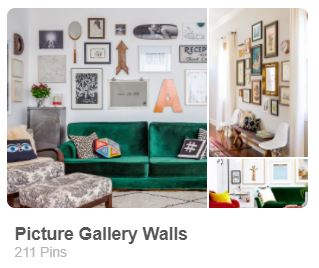 Picture Gallery Wall created by Carmen Whitehead Designs