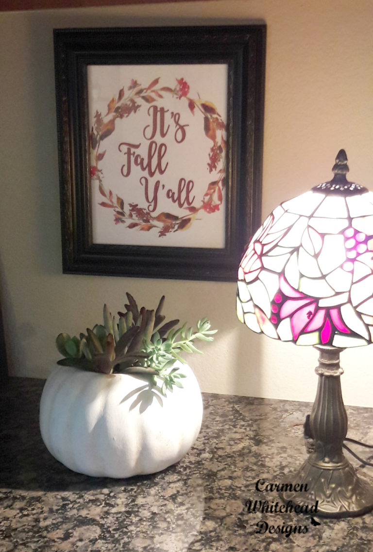 Pumpkin planters - Autumn Decor by Carmen Whitehead Designs