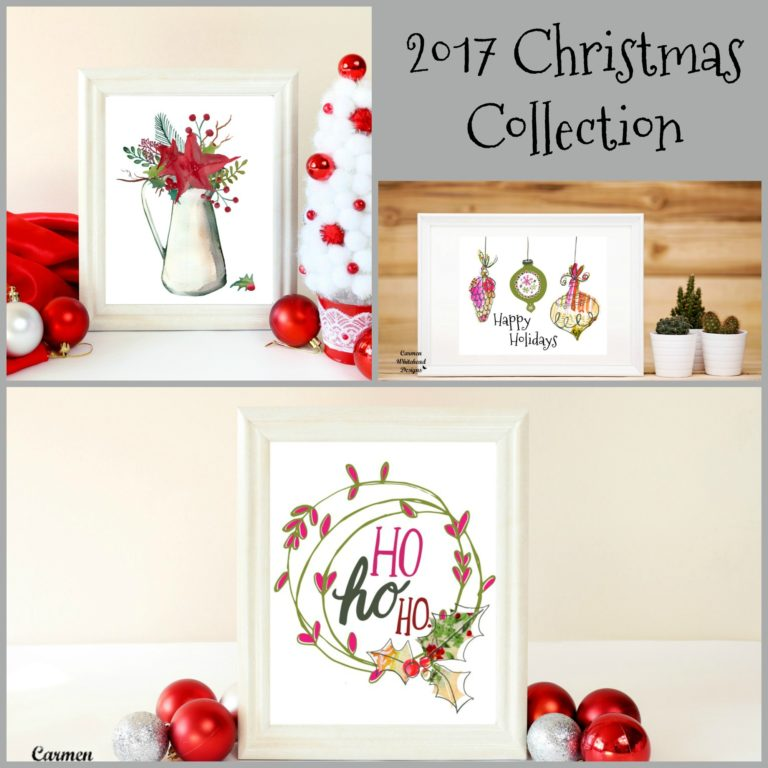 2017 Christmas Collection by Carmen Whitehead Designs
