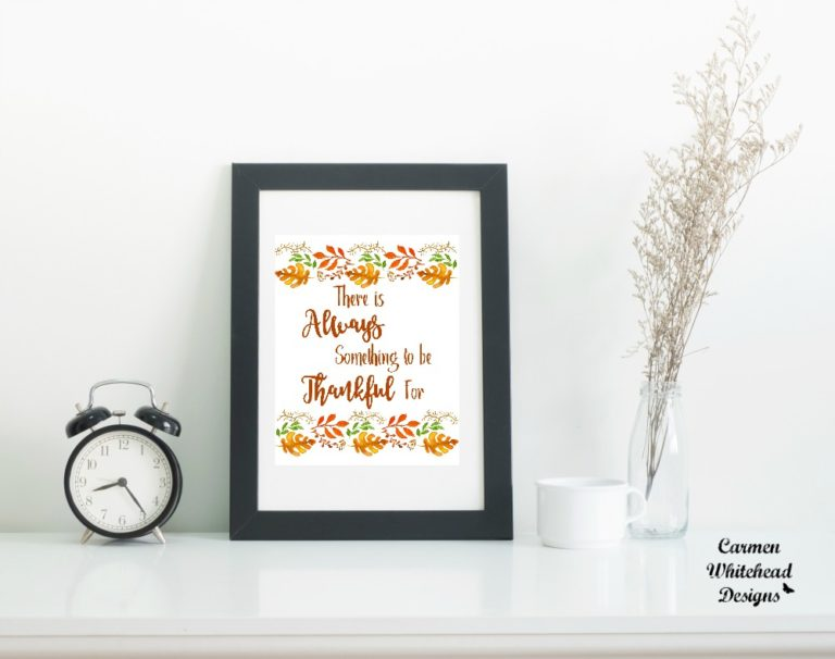 Free Thanksgiving printable from Carmen Whitehead Designs
