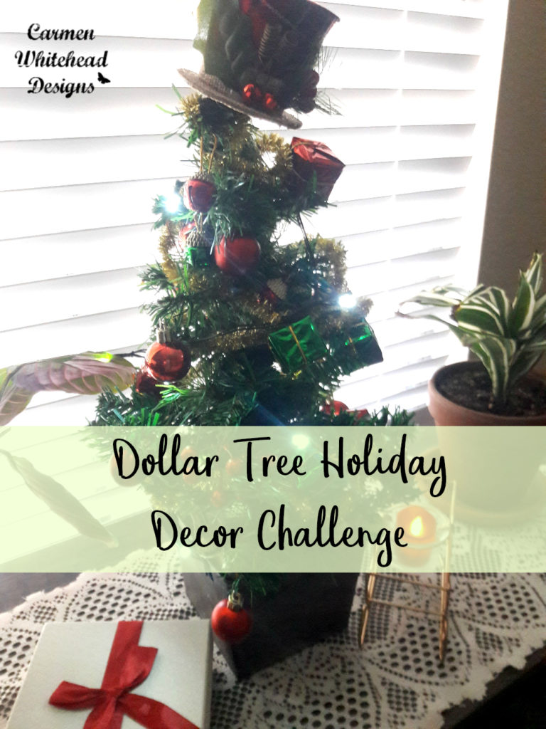 Dollar Tree Holiday Decor Challenge by Carmen Whitehead Designs