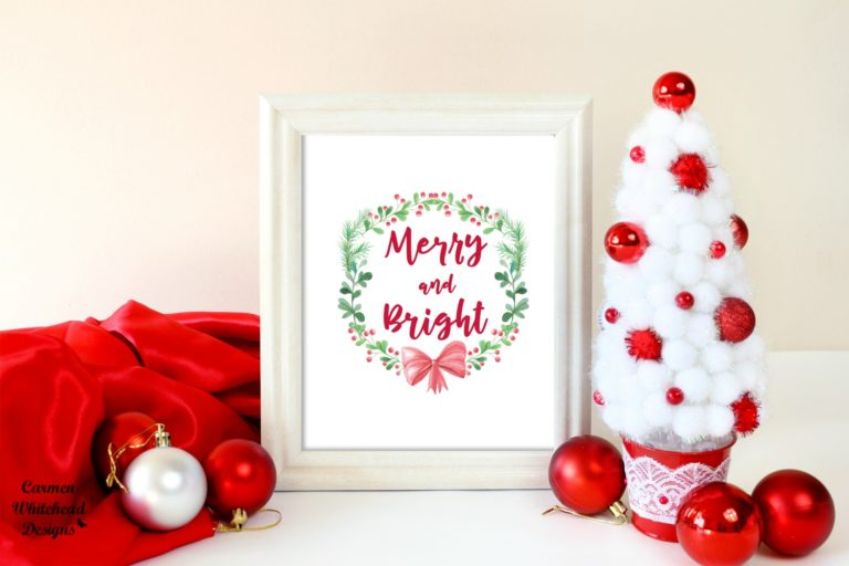 Free Holiday Printable created by Carmen Whitehead Designs