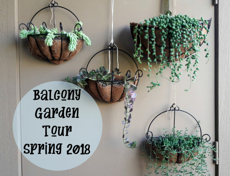 Balcony Garden Tour for Spring 2018 - Carmen Whitehead Designs