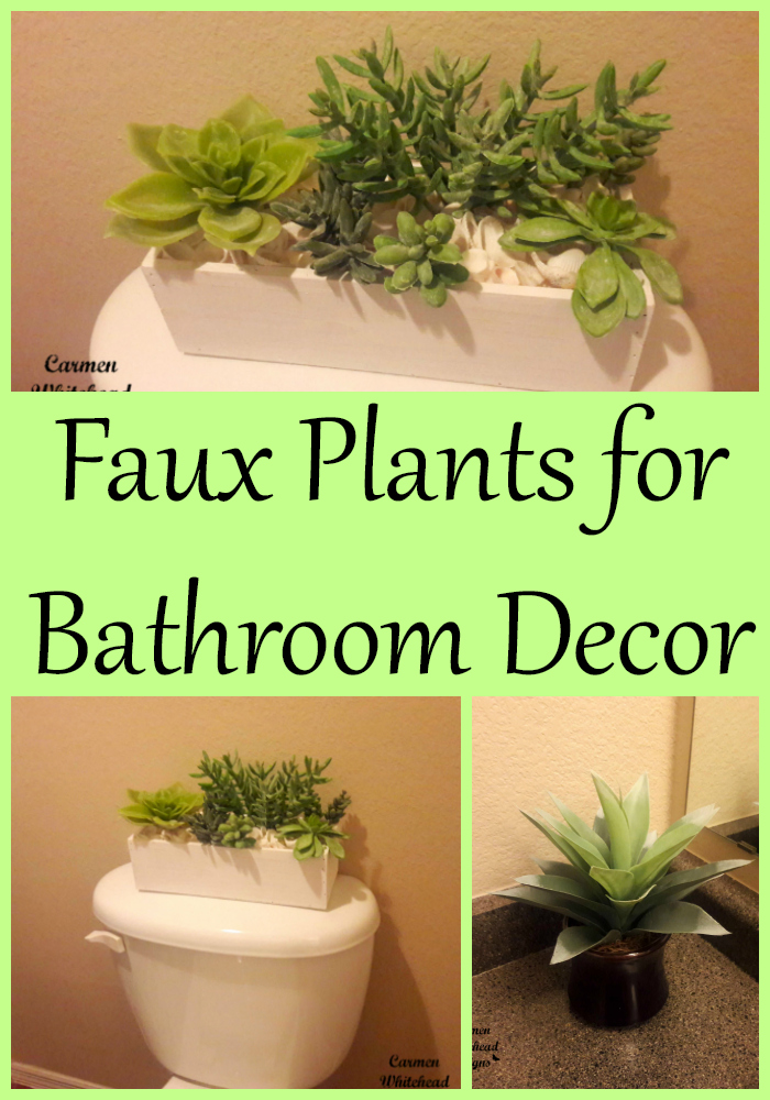 Faux Plants for Bathroom Decor - Carmen Whitehead Designs