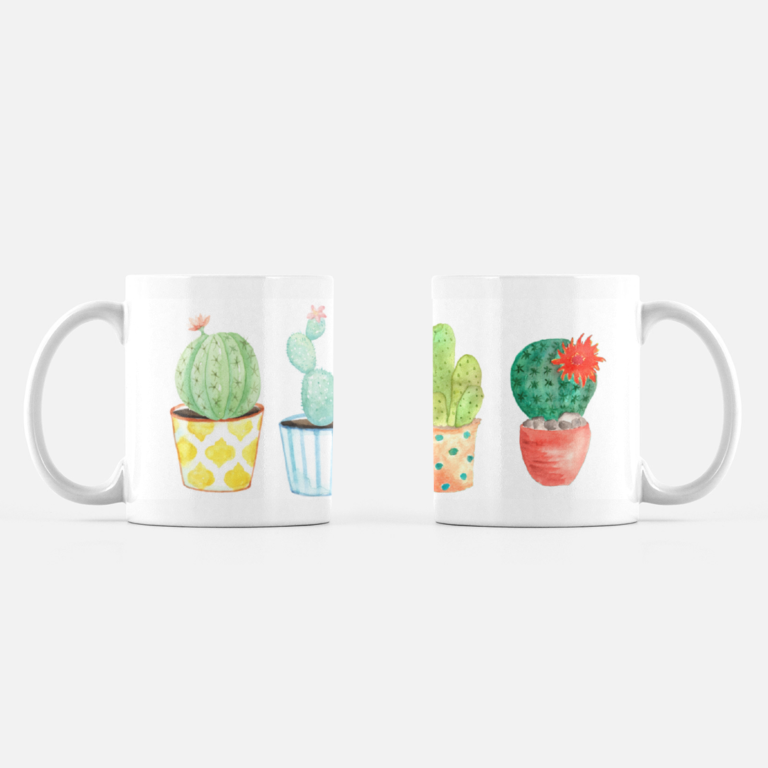 New Succulent Mugs in my shop! Carmen Whitehead Designs