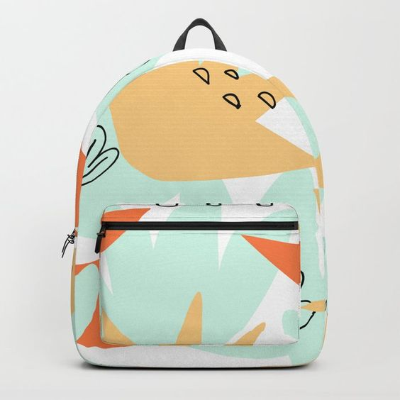 Terra Cotta and Teal Back pack by Carmen Whitehead Designs