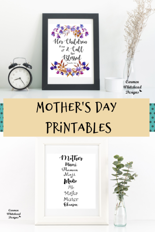 New Mother's Day Printables by Carmen Whitehead Designs