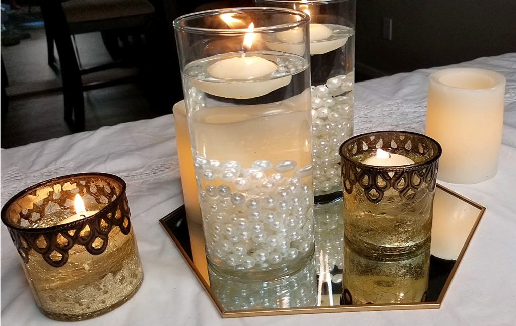 3 Wedding Centerpieces for $10 each - Carmen Whitehead designs