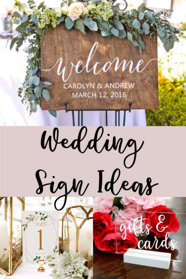 Wedding Sign Ideas - Carmen Whitehead Designs