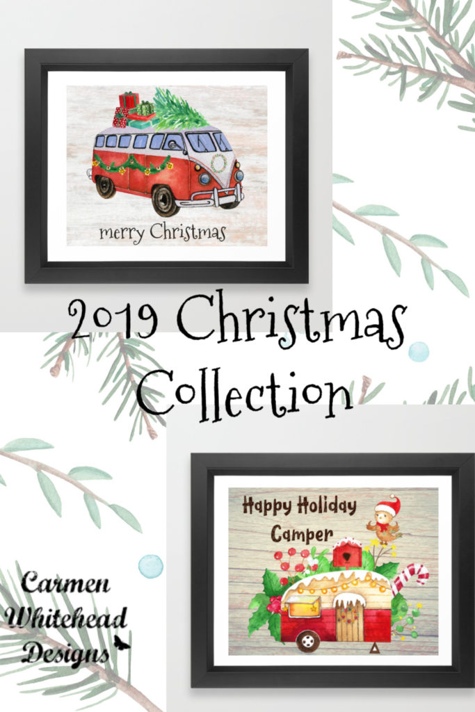 2019 Christmas Collection by Carmen Whitehead Designs